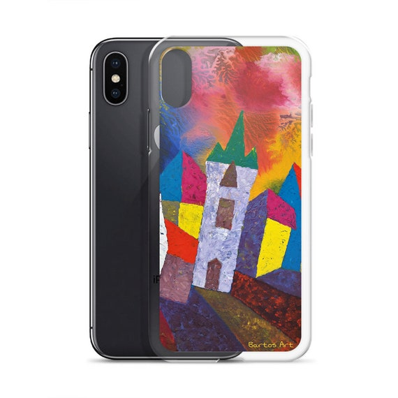 Bartos Art iPhone Case: HOUSES in MINDELHEIM II., Germany, Highlight your unique Appearence