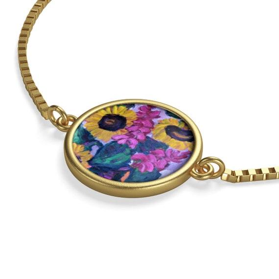 Bartos Art Bracelet: Sunflower Still Life, Emphasize your Individuality and aesthetic Sense