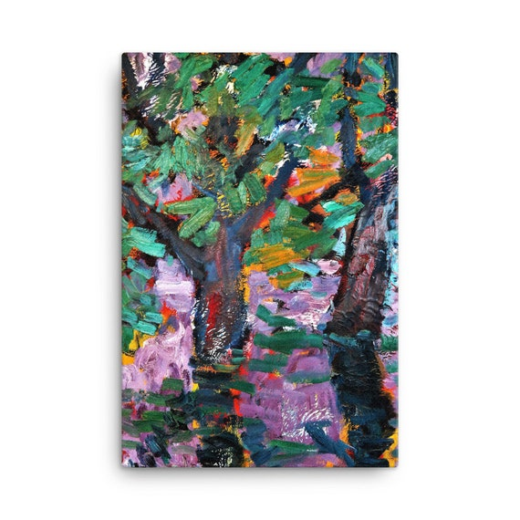 Bartos Art Stretched Canvas: BLURRED PURPLE, Create Your Personalized Environment