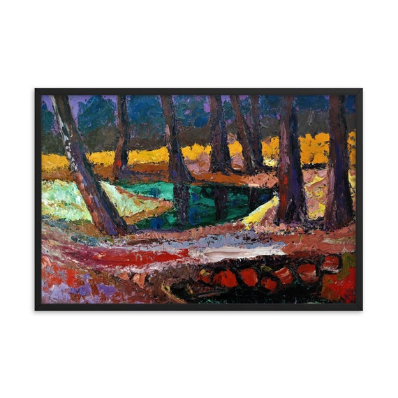 Bartos Art Framed Poster: FOREST III., Create a unique and personalized Ambiance in your Home and OfficeFramed poster