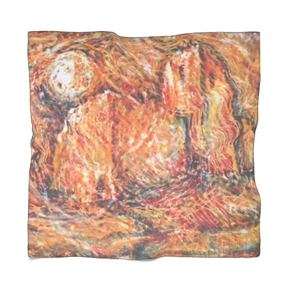 Bartos Art Scarf: Abstract Castle, Enhance your Individuality and Appearance for every Occasion