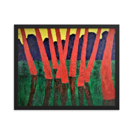 Bartos Art Framed Poster: RED WOODS, Create a unique and personalized Ambiance in your Home and Office