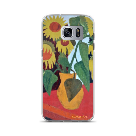 Bartos Art Samsung Case: WILTED SUNFLOWERS, Highlight your unique Appearance