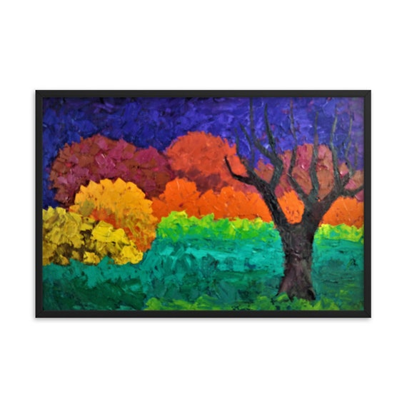 Bartos Art Framed poster: LONELY TREE, Create a unique and personalized Ambiance in your Home and Office