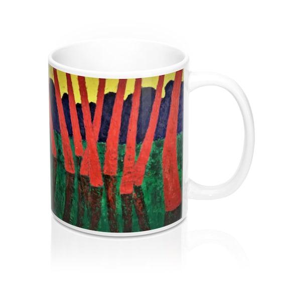 Bartos Art Mug: Red Woods, Appreciated Present for every true Hot Beverage Lover