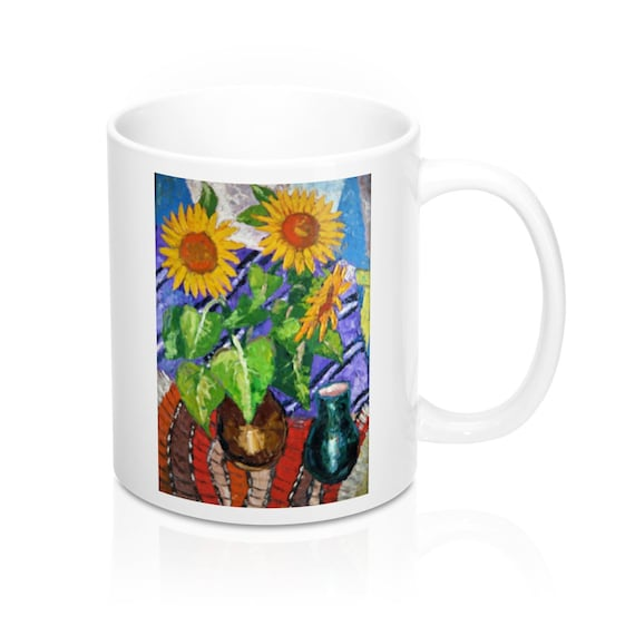 Bartos Art Mug: Sunflowers, Appreciated Present for every true Hot Beverage Lover