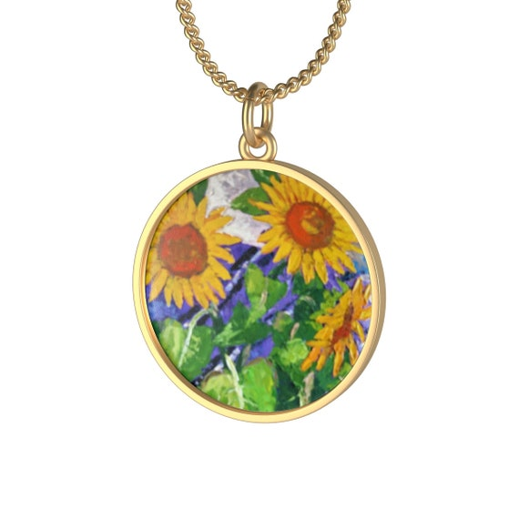 Bartos Art Necklace: Sunflowers, Individual and aesthetically pleasing Appearance