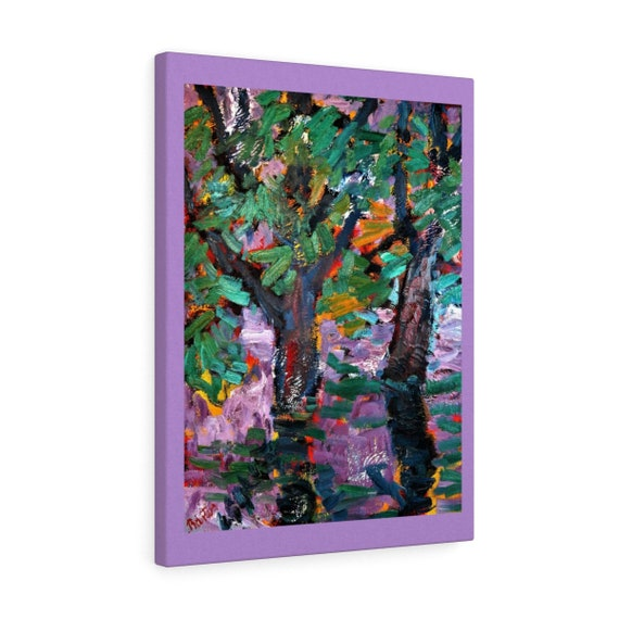 Bartos Art Canvas with color Margin: BLURRED PURPLE, Emphasize your Individuality at your Home and in your Office