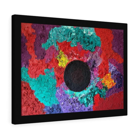 Bartos Art Canvas with color Margin: BLACK SUN, Emphasize your Individuality at your Home and in your Office