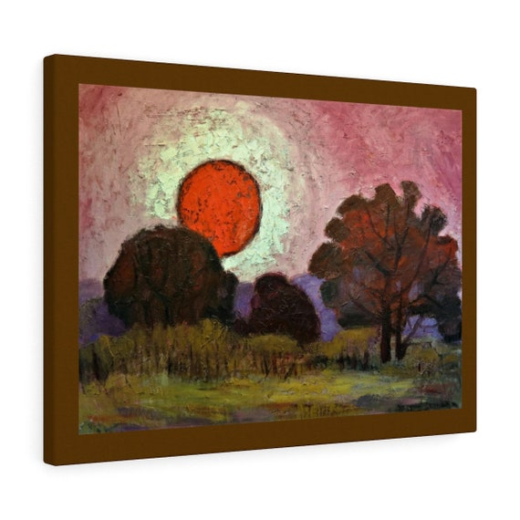 Bartos Art Canvas with color Margin: SUNSET, Emphasize your individuality at your home and in your office