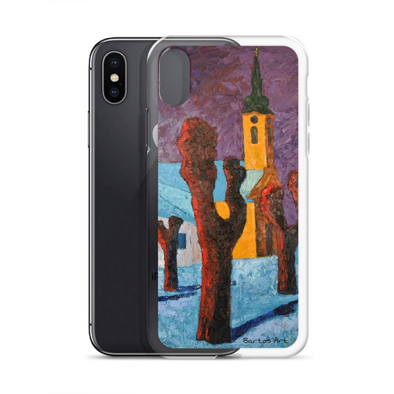 Bartos Art iPhone Case: WINTER CHURCH, Highlight your unique Appearence
