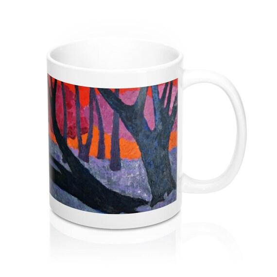 Bartos Art Mug: Woods VII., Appreciated Present for every true Hot Beverage Lover