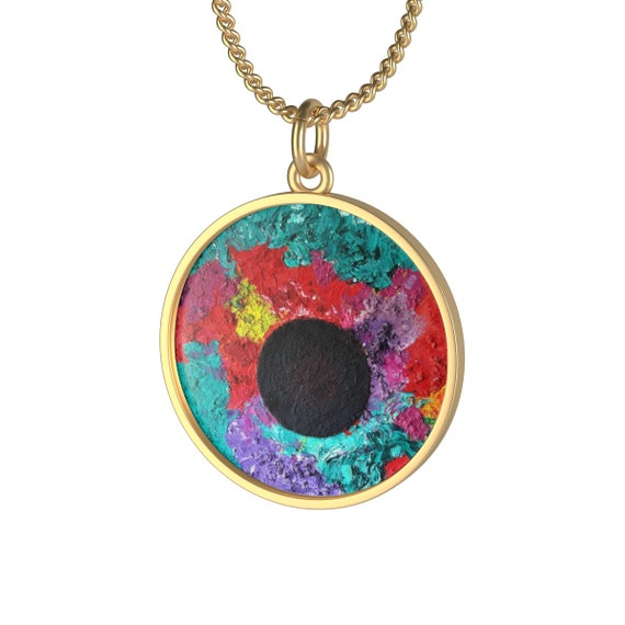 Bartos Art Necklace: Black Sun, Individual and aesthetically pleasing Appearance
