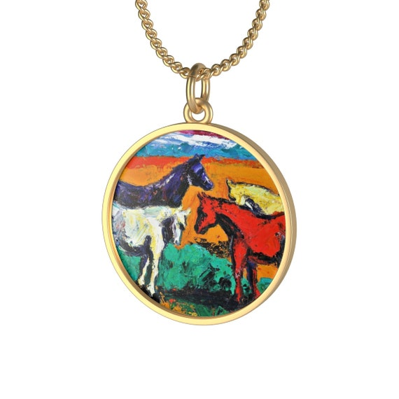 Bartos Art Necklace: Horses, Individual and aesthetically pleasing Appearance