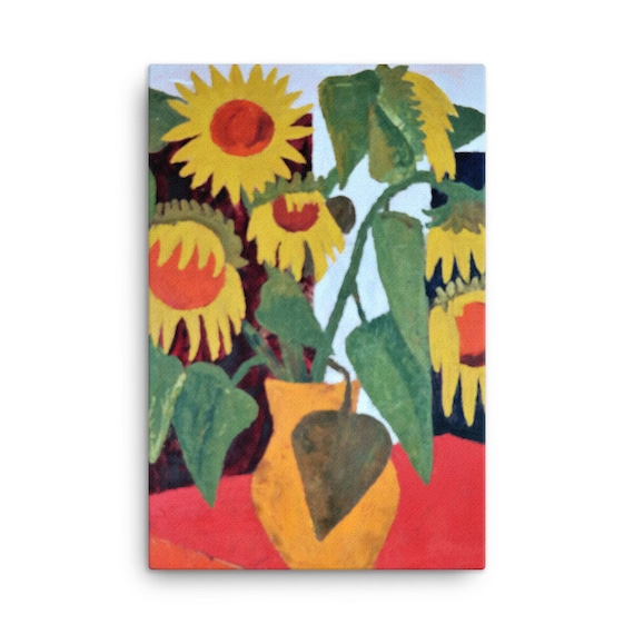 Bartos Art Stretched Canvas: WILTED SUNFLOWERS, Create Your Personalized Environment