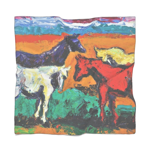 Bartos Art Scarf: Horses, Enhance your Individuality and Appearance for every Occasion