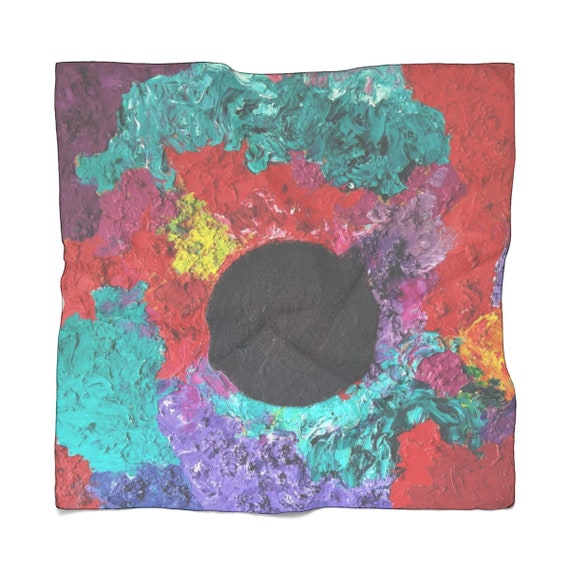 Bartos Art Scarf: Black Sun, Enhance your Individuality and Appearance for every Occasion