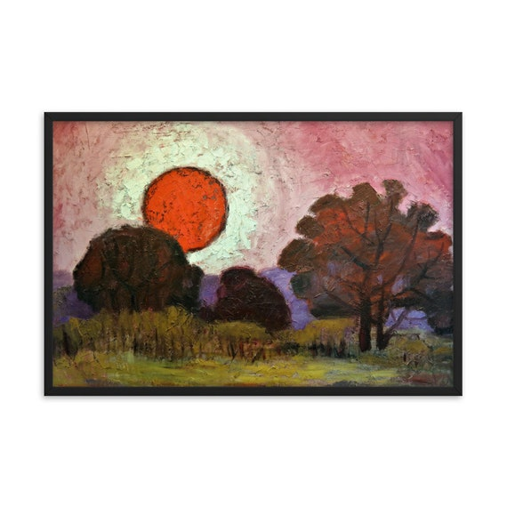 Bartos Art Framed Poster: SUNSET, Create a unique and personalized Ambiance in your Home and Office