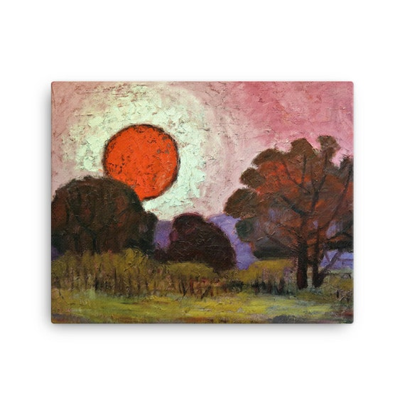 Bartos Art Stretched Canvas: SUNSET, Create Your Personalized Environment