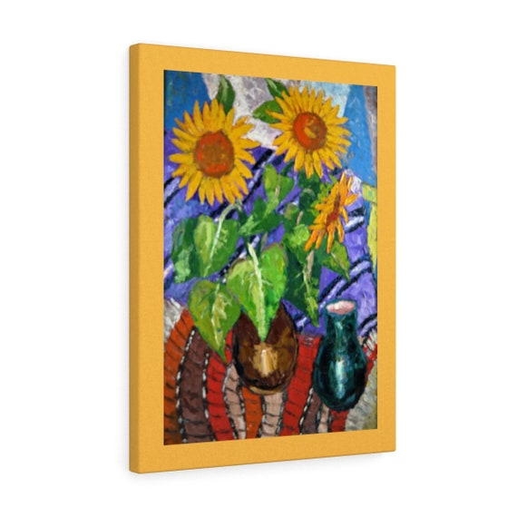 Bartos Art Canvas with color Margin: SUNFLOWERS, Emphasize your individuality at your home and in your office