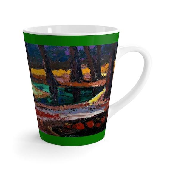 Bartos Art Latte Mug: FOREST III.,  Beautiful Work of Art on Mug for true Coffee Lovers
