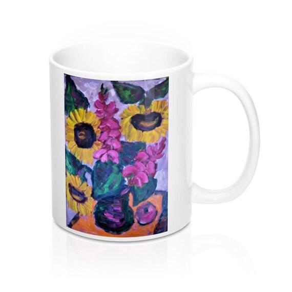 Bartos Art Mug: Sunflower Still Life, Appreciated Present for every true Hot Beverage Lover