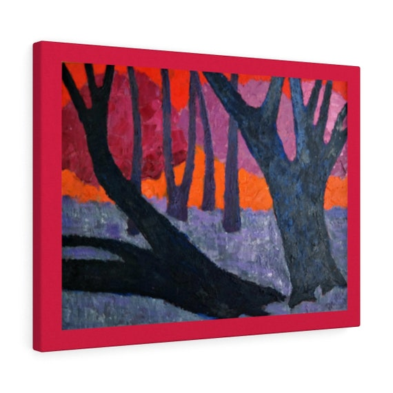 Bartos Art Canvas with Color Margin: WOODS VII., Emphasize your Individuality at your Home and in your Office