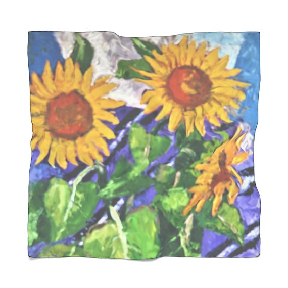 Bartos Art Scarf: Sunflowers, Enhance your Individuality and Appearance for every Occasion