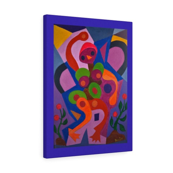 Bartos Art Canvas with Color Margin: BIRDIE, Emphasize your Individuality at your Home and in your Office