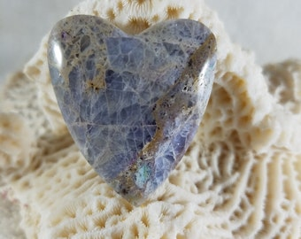 Kaleidoscope Agate Heart Cab - Also Known as Prism Agate