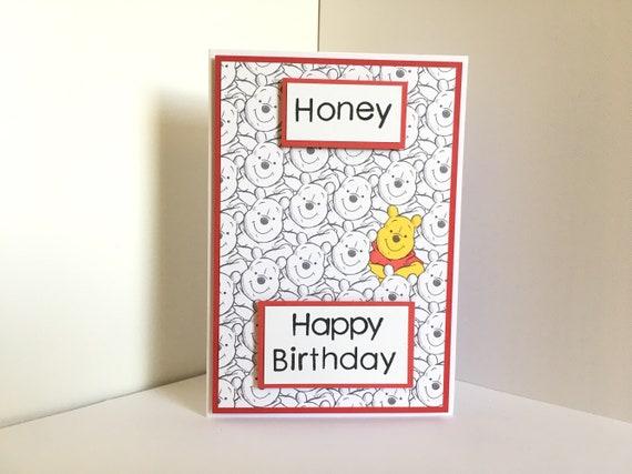 Winnie The Pooh Handmade Birthday Card Pooh Bear Etsy