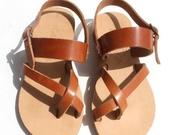 KIDS sandals,baby sandals,wholesale sandals,classic sandals,Greek Handmade sandals,toe ring sandals,natural leather,Ancient Greek leather