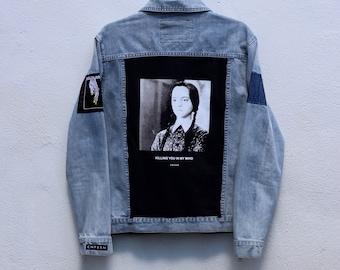 4230f954c8 1 1 custom denim Wednesday Addams jacket by  cnfssn