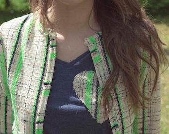 Jacket Zoey-Tweed Fluo Framework