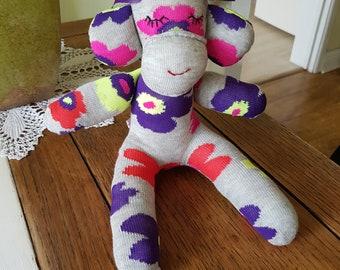 Handmade Sock Monkey Daisy