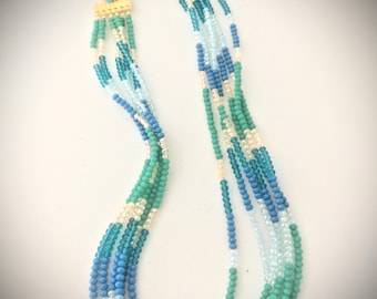 Necklace with full of crystal stones, handmade,  is also possible more colours