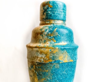 Small Martini Shaker, GOLD&TEAL