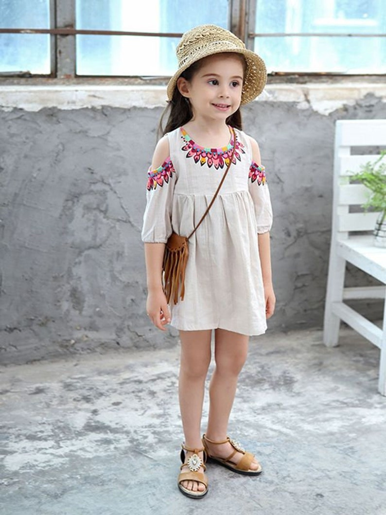 Cute Jacquard Pleated Cotton Dress