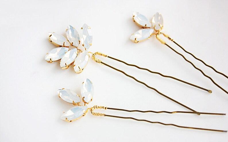 Wedding Hair Pin Bride Hair Pin Crystal Hair Pin Gold Hair Pin Crystal Hair Pin for Wedding  Hair Pin Bridal Hair Pin