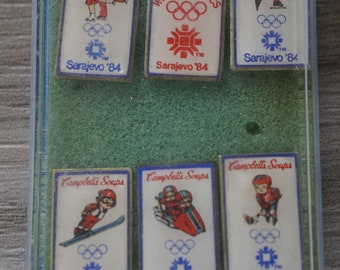 1984 Campbell's Soup Sarajevo Olympic pins set of 6
