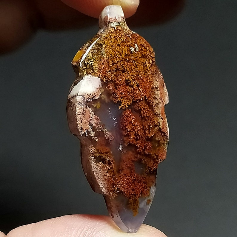 28ct Natural Green Brown Red GARDEN Moss agate ~3 Dimensional Picture~