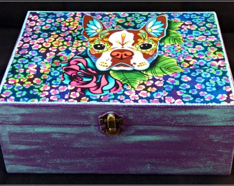 Painted and Decoupaged 'French Bulldog' Keepsake Box