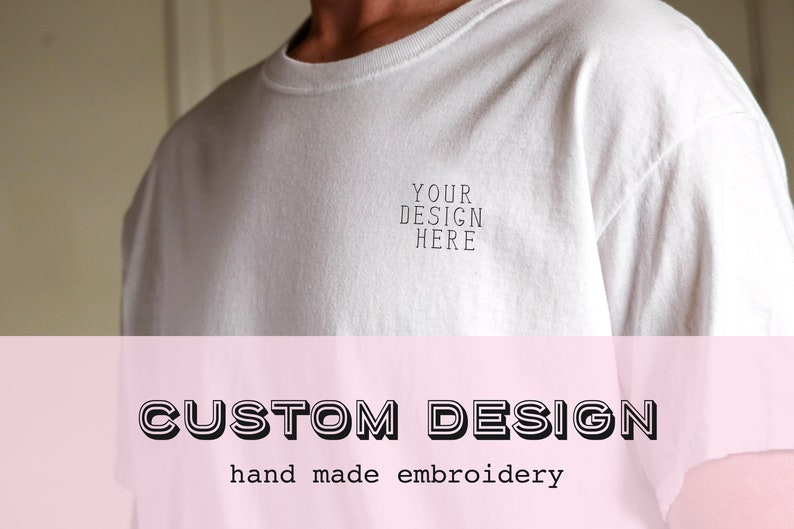 CUSTOM DESIGN - handmade embroidery stitched shirt - tees + apparel -  stitchedbycarolinew