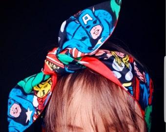 Hair wrap Disney The Beauty and the Beast headband hair wrap knotted dolly bow