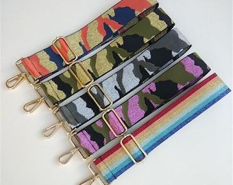 "2"" (5CM) Width, Adjustable 130cm Length Camouflage Purse Strap Belt, Nylon Canvas Webbing Shoulder Handbag Handle Chain, Crossbody Bag Strap"