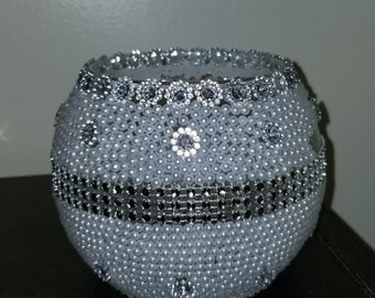Blingy pearl glass muti use cup