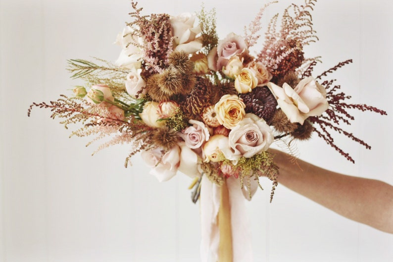 DESERT BLUSH Silk Ribbon Wedding Bouquet Styling Kit for image 0