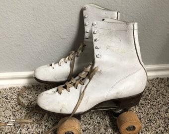 White Roller Skates - Size 8