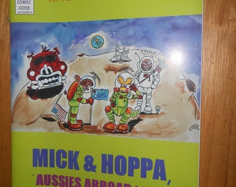 The Politically Incorrect Adventures of Mick And Hoppa, Aussies Abroad Against The World'. comic Australia War Trump backpacking  JOC