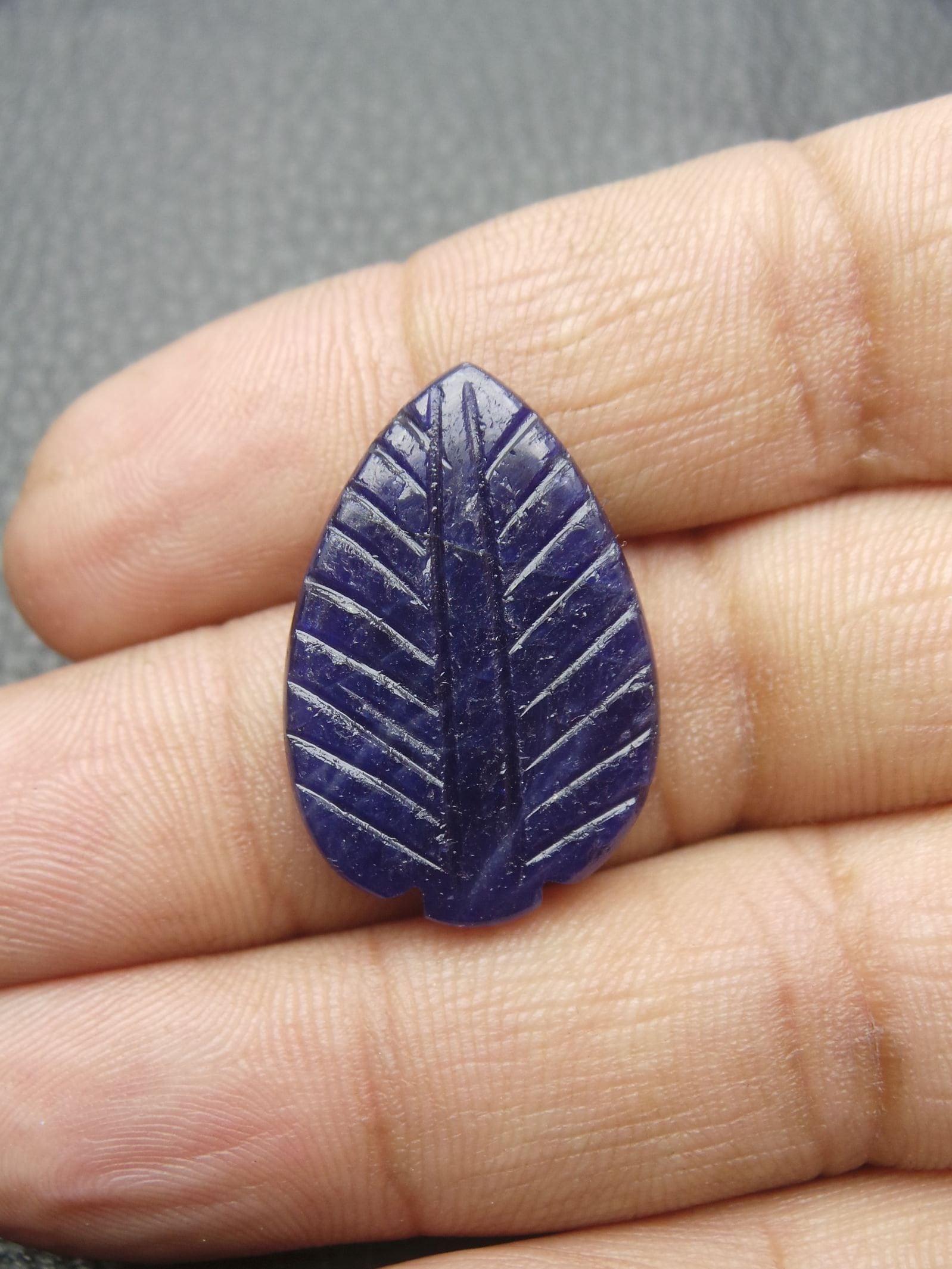 Sculpte De Poire Saphir Bleu Bleu Bleu Naturel Shap Main